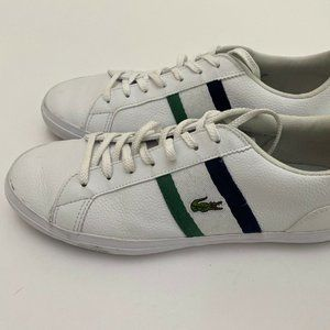Lacoste Lerond White Leather Casual Sneaker Men Si